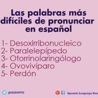 Las palabras más difíciles de pronunciar en español