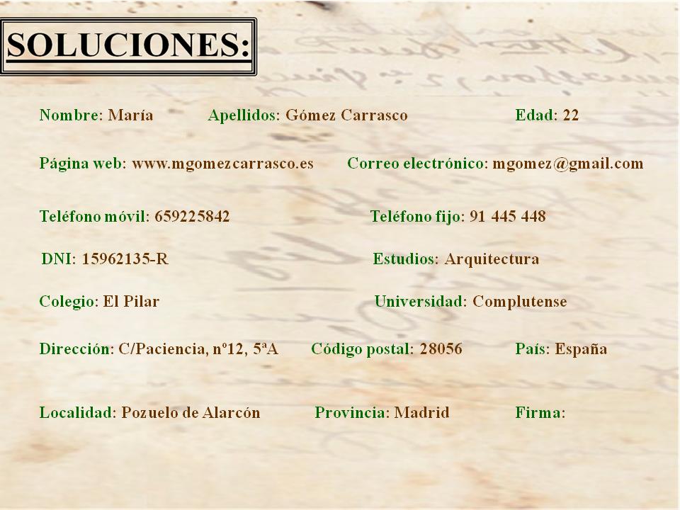 Soluciones puzzles. Madrid16